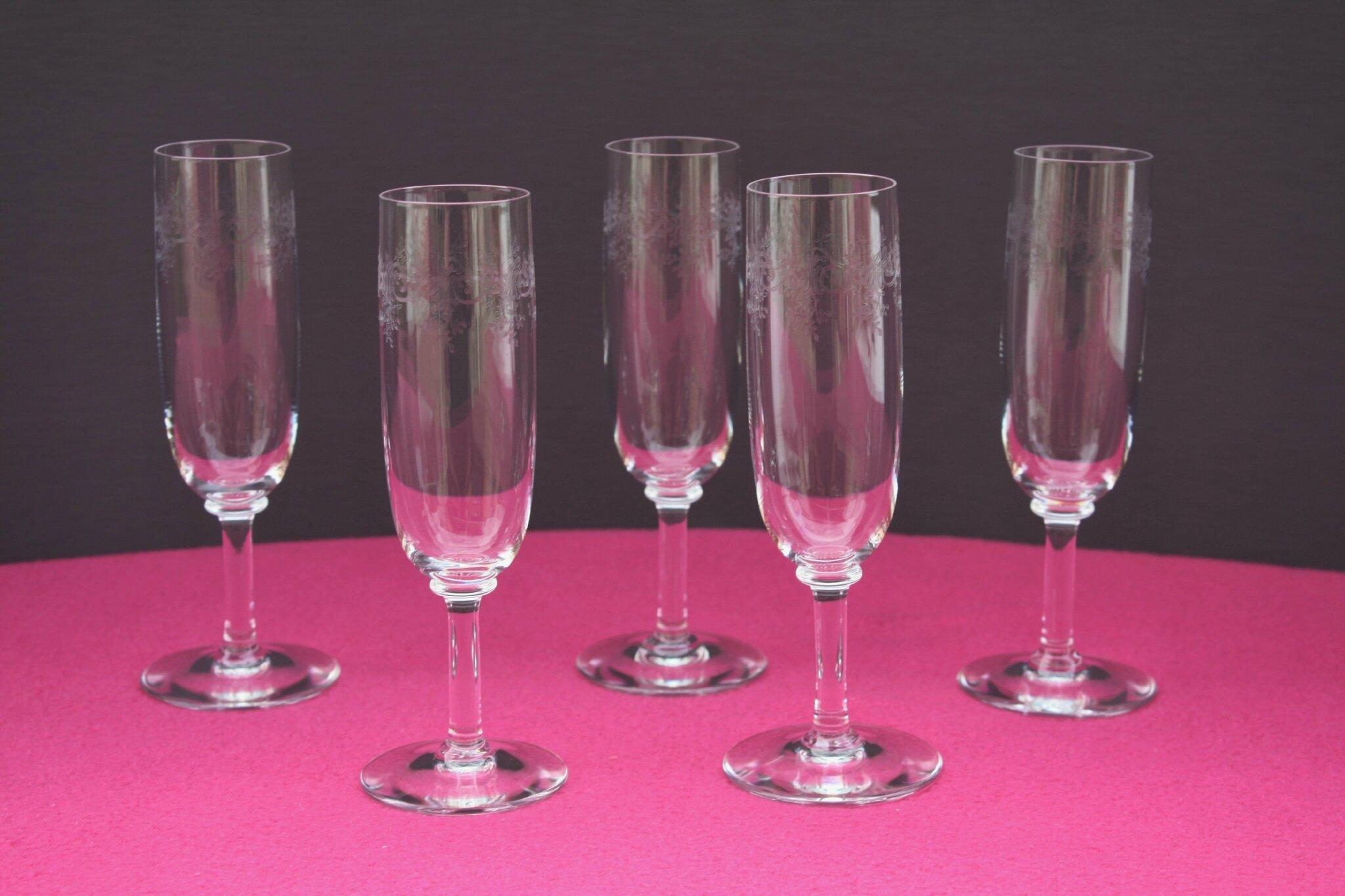 Flûtes à champagne Baccarat Sévigné