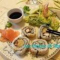 California rolls au maki dashi tamago et poulet teriyaki
