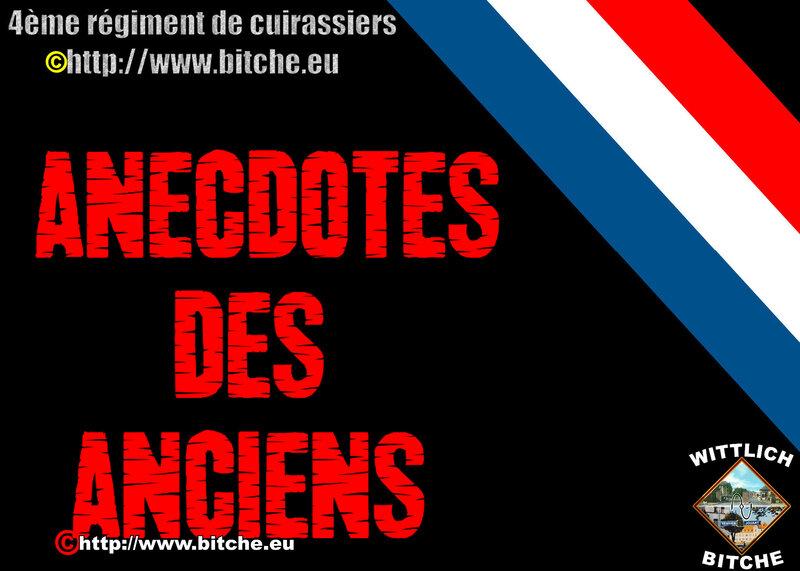 - ANECDOTES des ANCiENS
