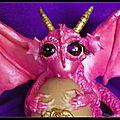 Xafira une jolie bébé dragon : sculpture