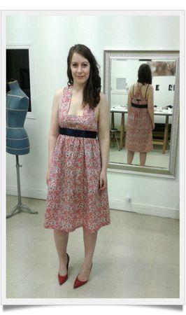 Stéphanie robe devant-framed