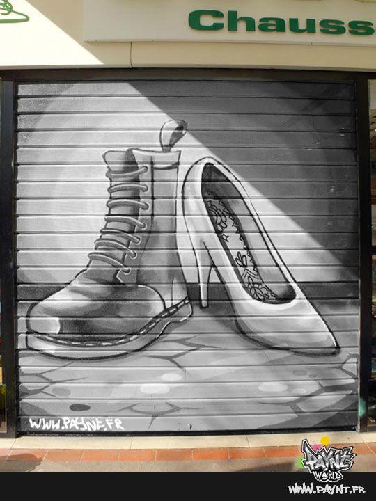 Chaussure_magasin_classe-standing_peinture_caen_graffiti