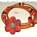 bracelet-fleur-orangé