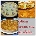 Gâteau lorrain à la mirabelle ( fruits au choix )