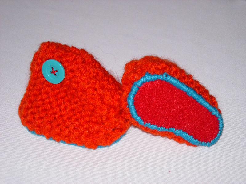Chaussons orange