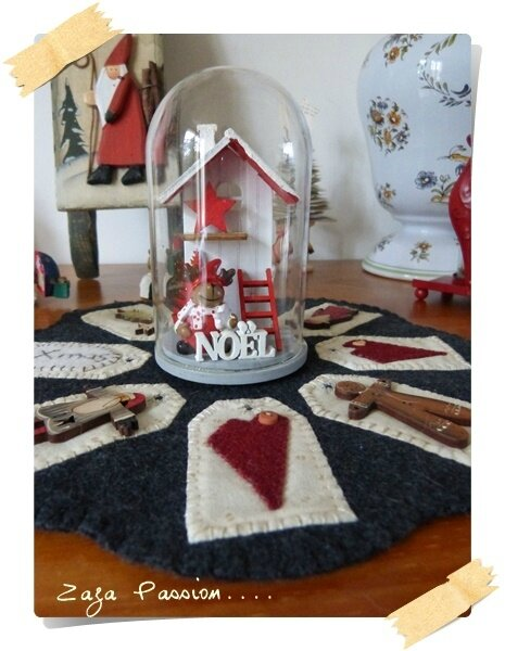 Candle mat Noel 1
