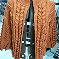 Veste bord à bord modèle 11 du mag'tricot irlandais de bdf