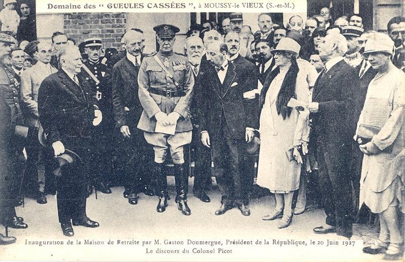 1927 06 20 Inauguration maison de retraite par Gaston Doumergue Pdt Rép