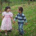 De futurs amoureux... Mélin et Léo