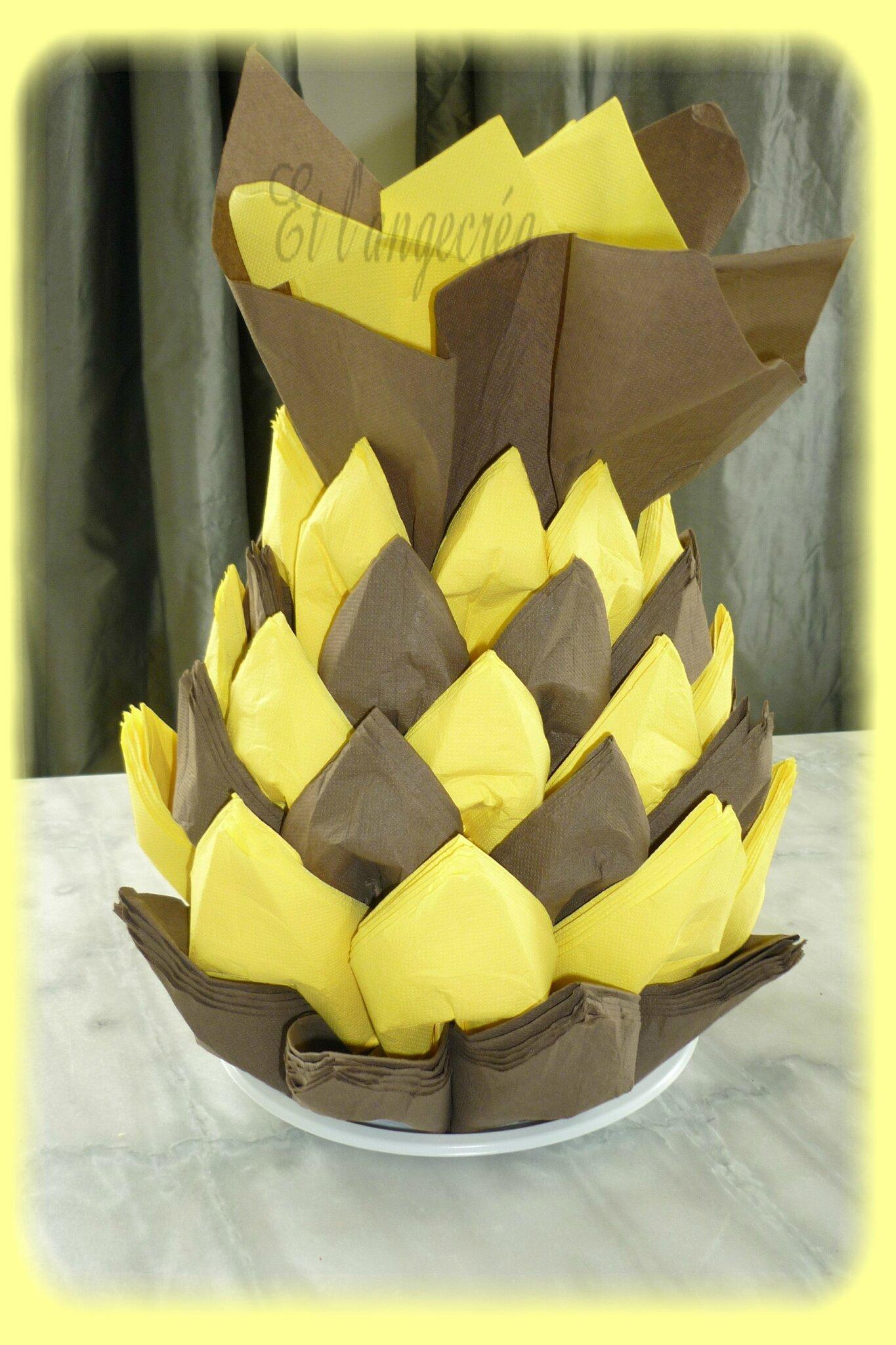 ananas serviettes chocolat jaune (2)