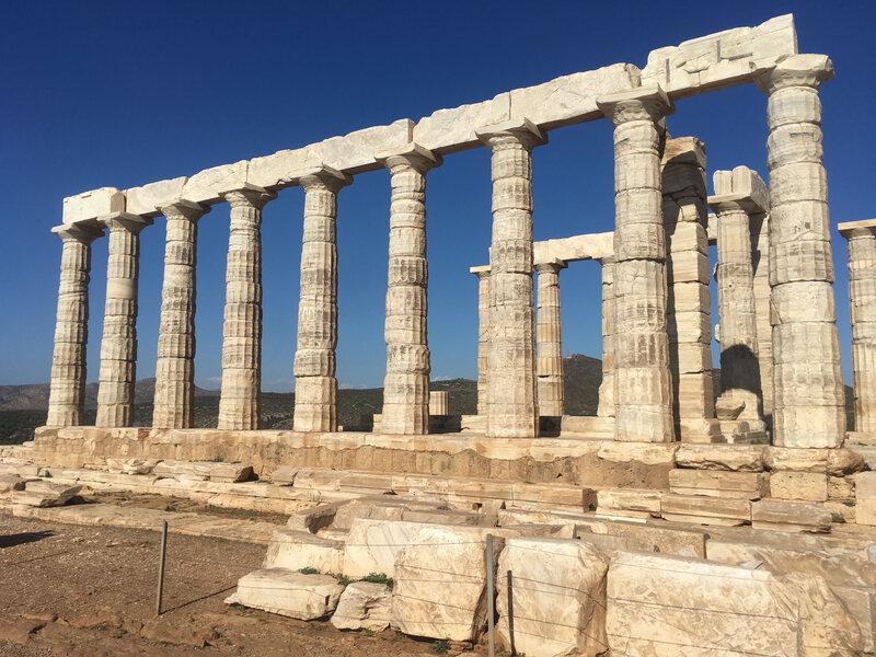 Facade sud du Temple de Poséidon, Cap Sounio 111116