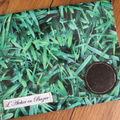 Pochette en PVC motif herbes
