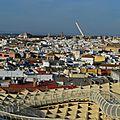 Vue panoramique sur séville depuis les terrasses des setas