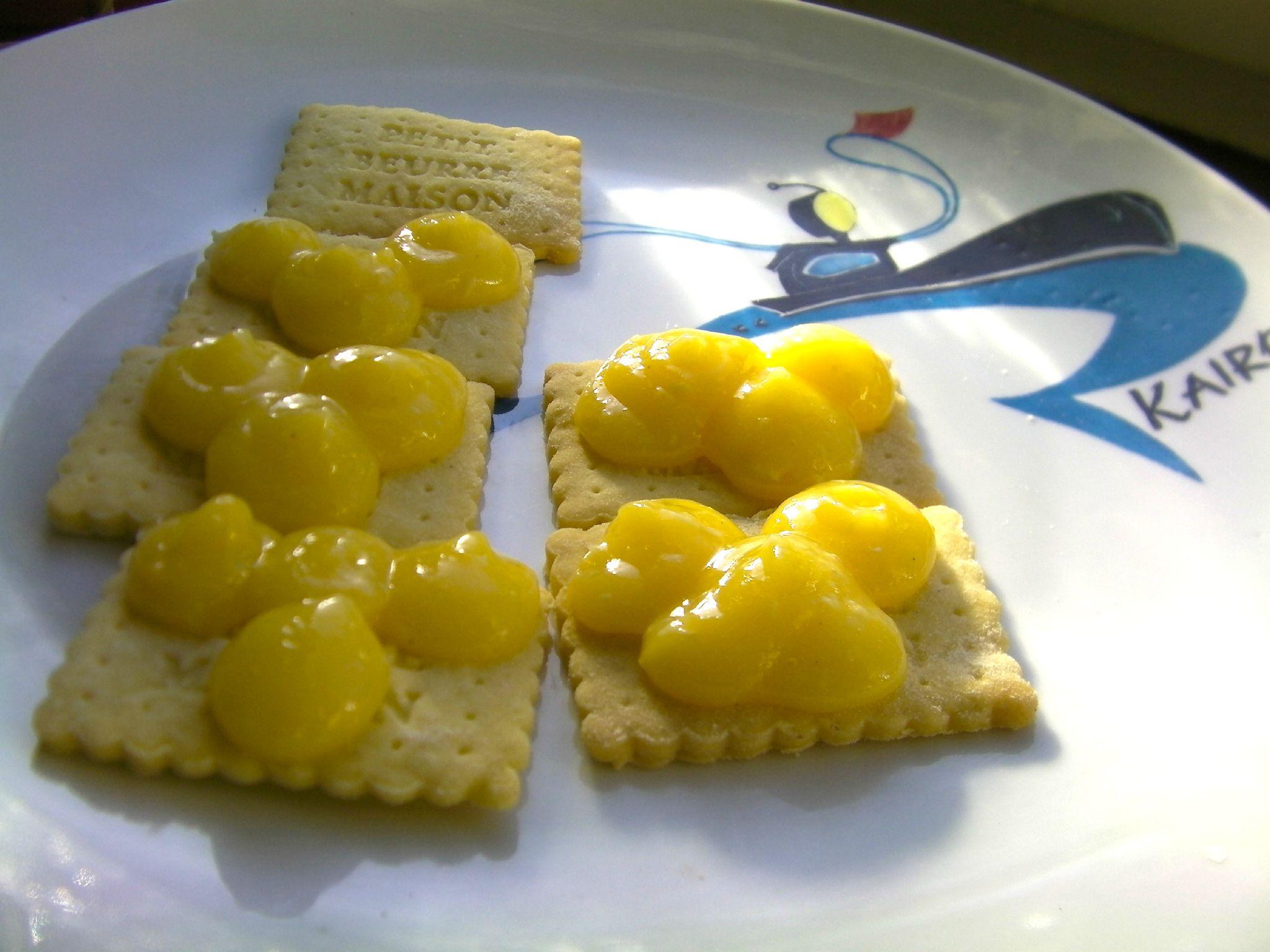 Petit beurre au lemon curd