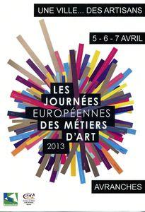 journées européennes des métiers d'art 2013 Avranches