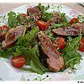 Salade de roquette aux magrets de canard