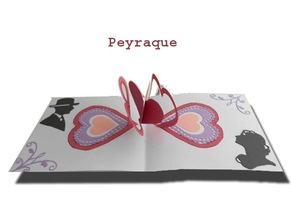 coeurs pop-up enlaces Peyraque