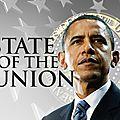 Etat de l'union: obama si fier de lui. il est bien le seul!