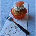 Cupcakes salé au saumon