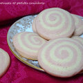 Biscuits tourbillons roses