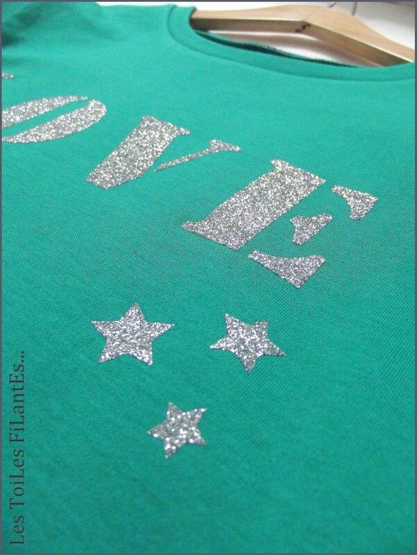 Tee-shirt vert LOVE5