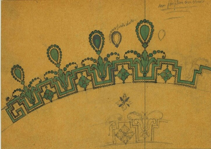 C-0213 - CARTIER - Study for an important tiara, Garland style