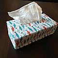 Housse de boîte à mouchoirs motifs poissons