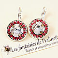 bijoux-mariage-soiree-temoin-cortege-boucles-d-oreilles-Aline-strass-et-cristal-transparent-et-rose-fuchsia