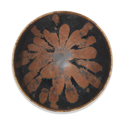 A russet-splashed black-glazed tea bowl, 12th-13th century