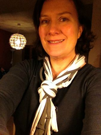 Bab pour Celine recycling t-shirt scarf
