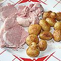 Palette de porc aux pommes de terre de noirmoutier