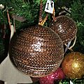 boule sequin marron