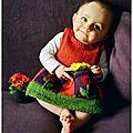 Robe anouk, tricot pour bébé.