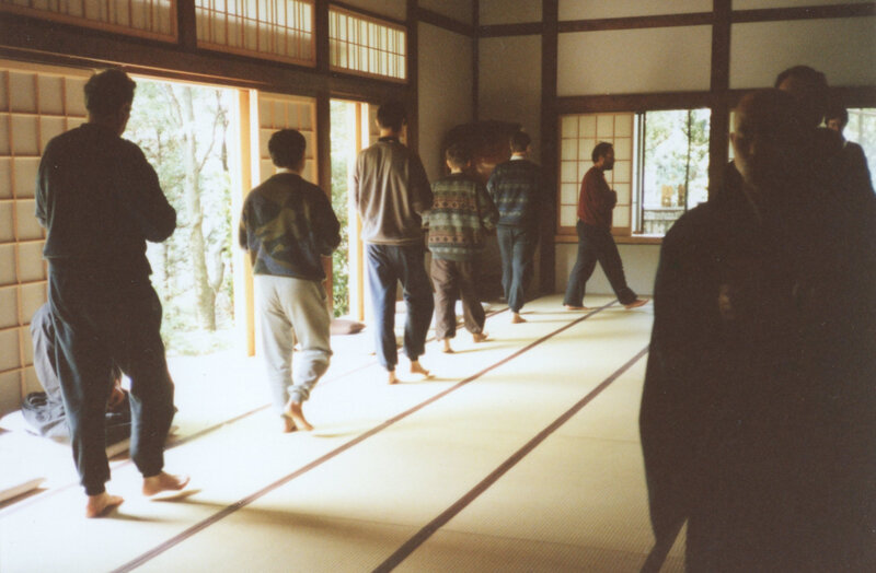 1992, kinhin au Kaisen-ji