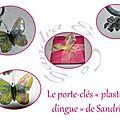 Le porte-clés plastique dingue de Sandrine