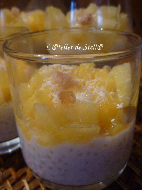 Perles du Japon au lait de coco et ananas