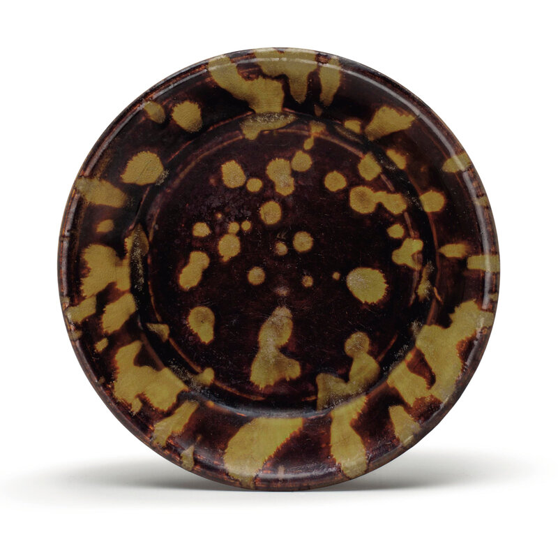 A Jizhou 'tortoiseshell'-glazed shallow dish, Southern Song-Yuan dynasty, 12th-14th century