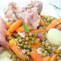 Museau de porc aux légumes de printemps