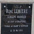 Lemiere rené (châteauroux) + 25/05/1915 steenworde (belgique)