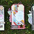 Trio de tags nsd 2016 sur swirlcards & challenge tag#52 juin/juillet 2016 de l'antrescrap