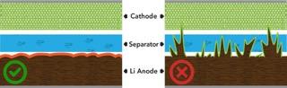 Lithium dendrites(1)