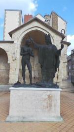 L'êveque Saint-Remi baptisant Clovis(roi des Francs)