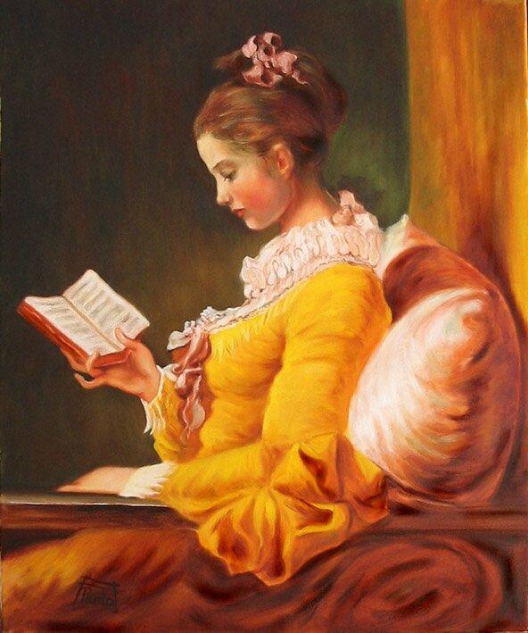 AnaPardo-Copia-Mujer-leyendo-Fragonard