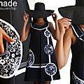Robe trapèze Noire Couture à Fleurs Sixties et Pois Noir/ Blanc Tendance Automne Hiver 2014 2015