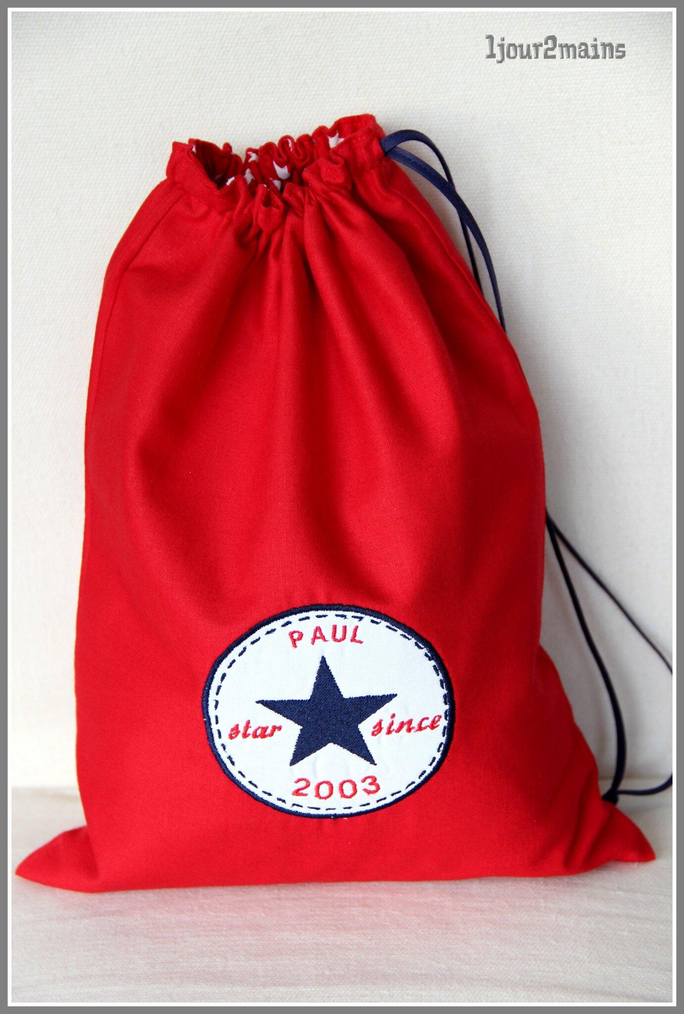 sac logo converse rouge