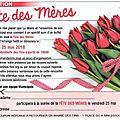 Fête des mères vendredi 25 mai 2018 (invitation mairie)