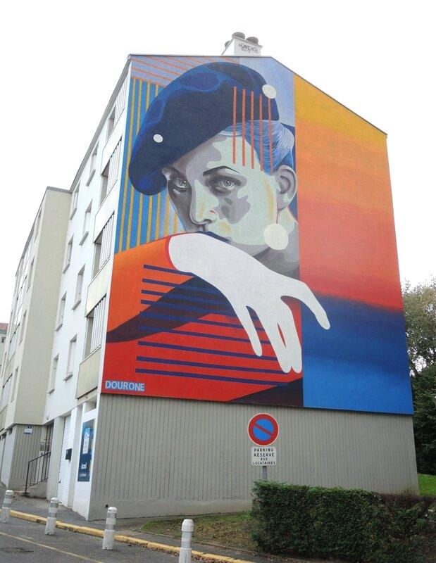 Bayonne, Street Art point de vue, fresque Dourone (64)