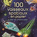 100 vaisseaux spatiaux en papier