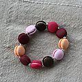 bracelet macaron fraises