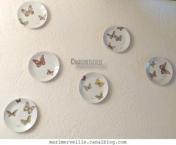 Collection assiettes marimerveille envolée de papillons